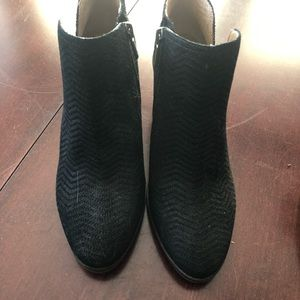 Lucky Brand Shoes - Lucky Brand Black Suede Booties